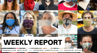 WEEKLY REPORT: Thanksgiving Gratitude /// Emergency Constitution /// Dominion Voting